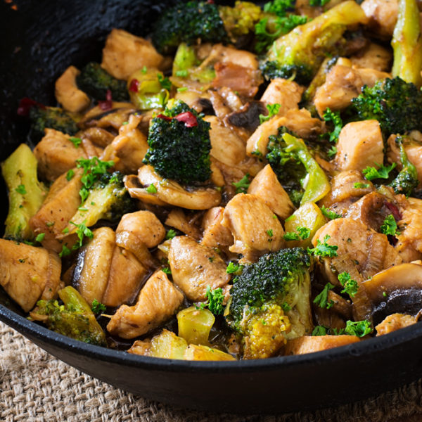 Easy Asian Broccoli Chicken and Mushroom Stir-Fry