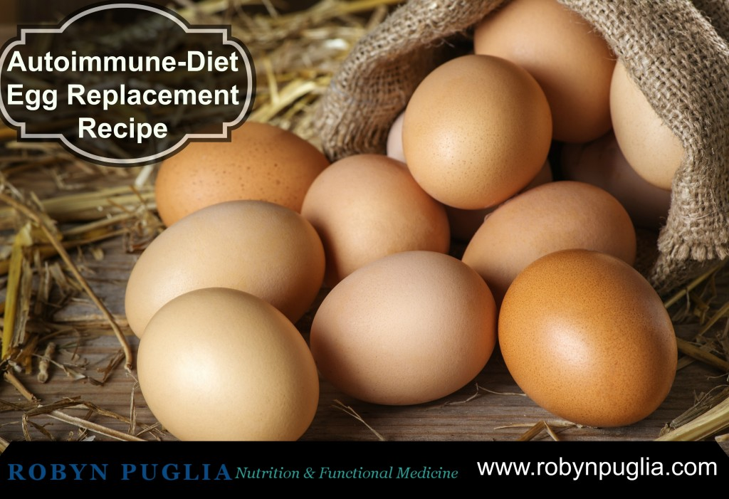 Fantastic Egg Replacement Recipe for Autoimmune Diet.