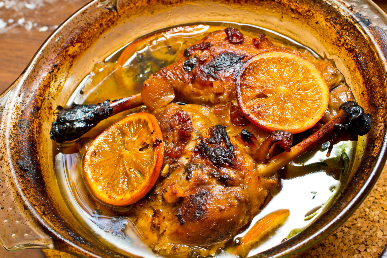 Duck Leg in Orange Sauce