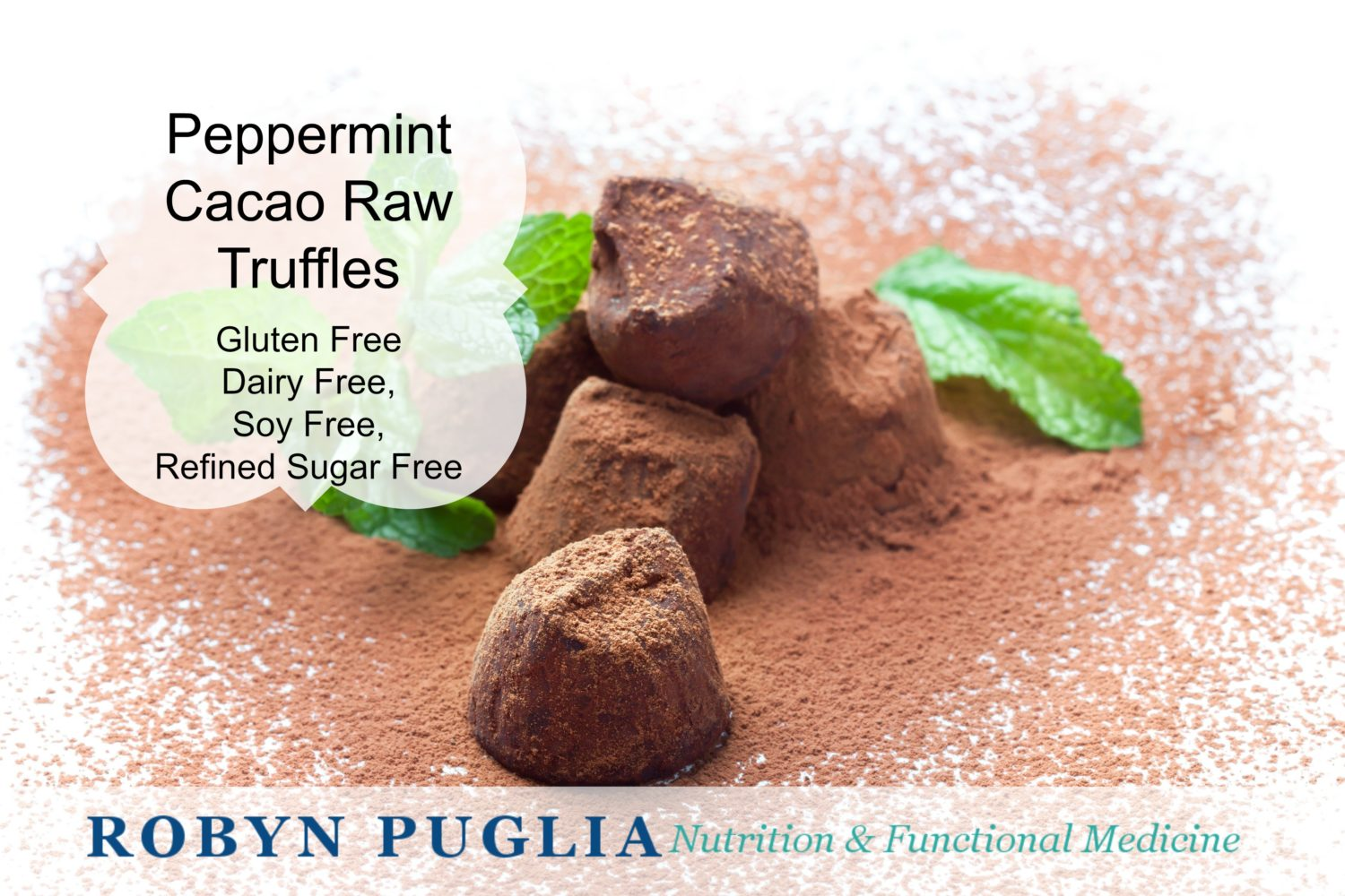 Peppermint Cacao Truffles