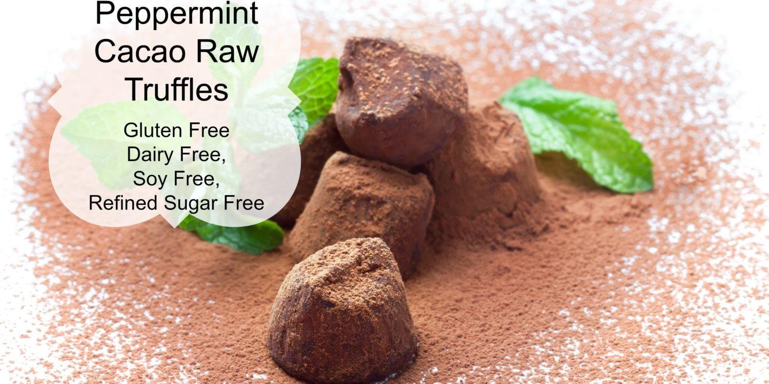 Peppermint Cacao Raw Truffle