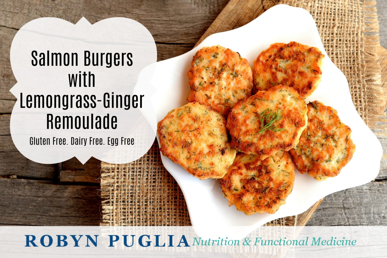 Salmon Burgers with Lemongrass-Ginger Remoulade