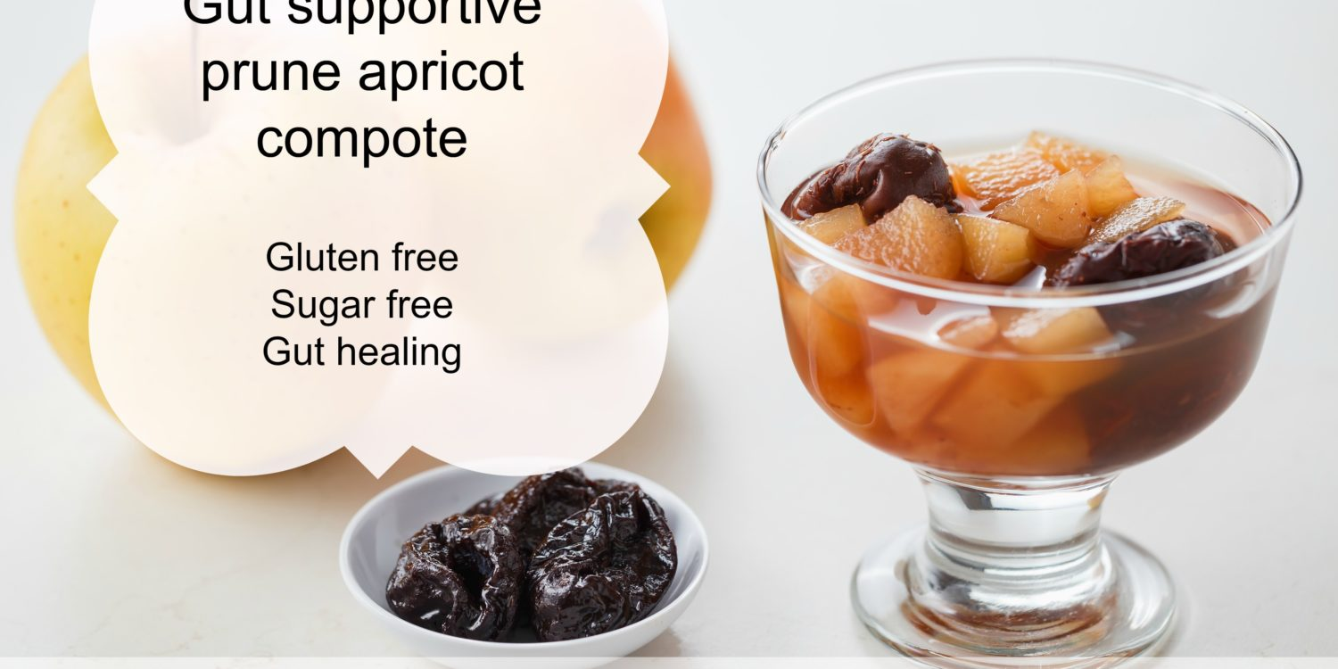Gut supportive prune apricot compote