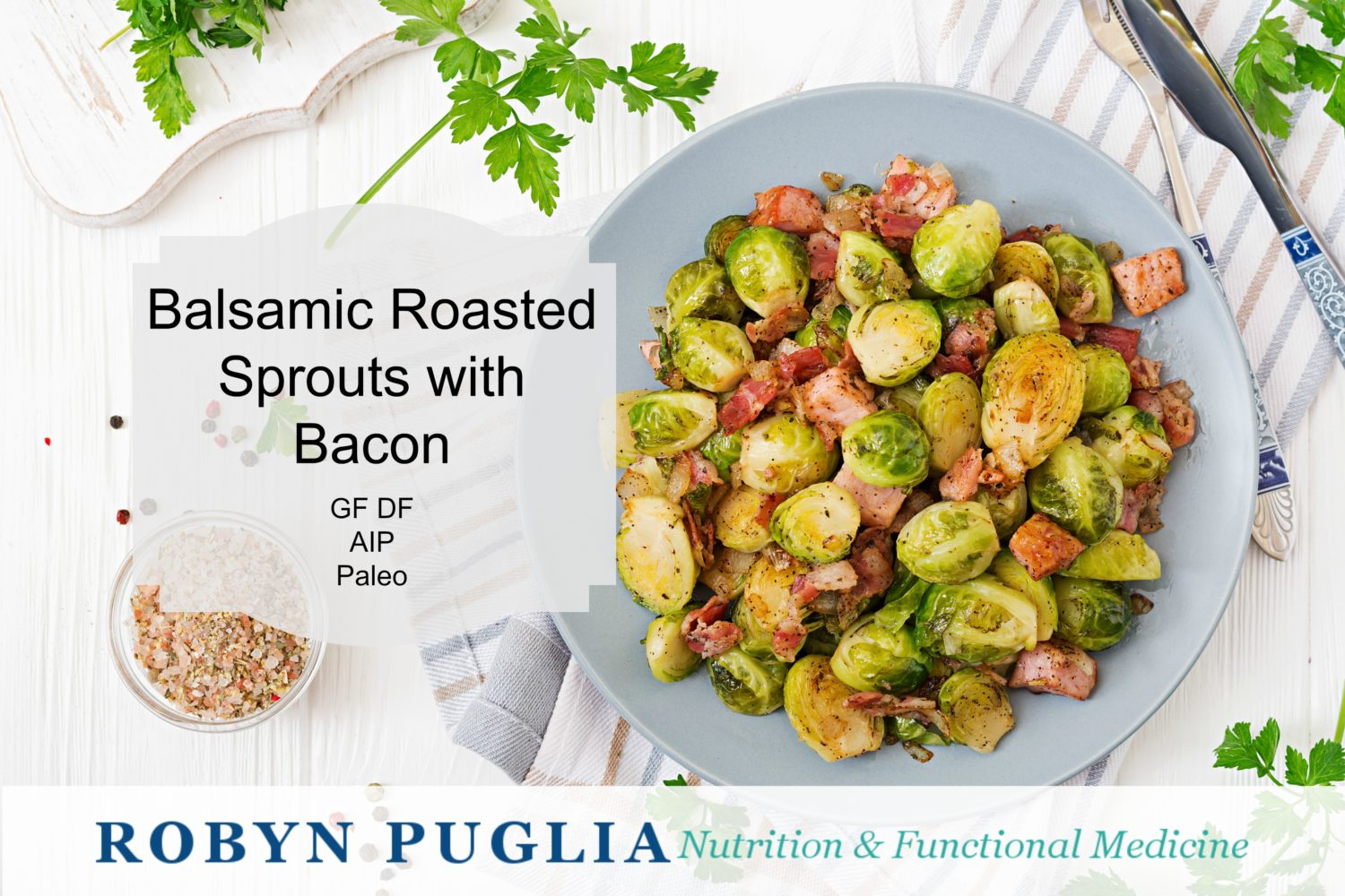 Roasted Brussel Sprouts with Bacon and Apple