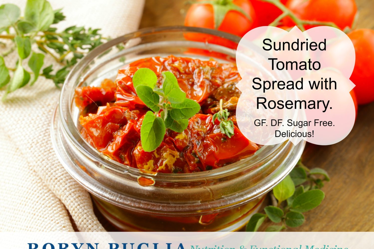 Sundried Tomato Spread with Rosemary