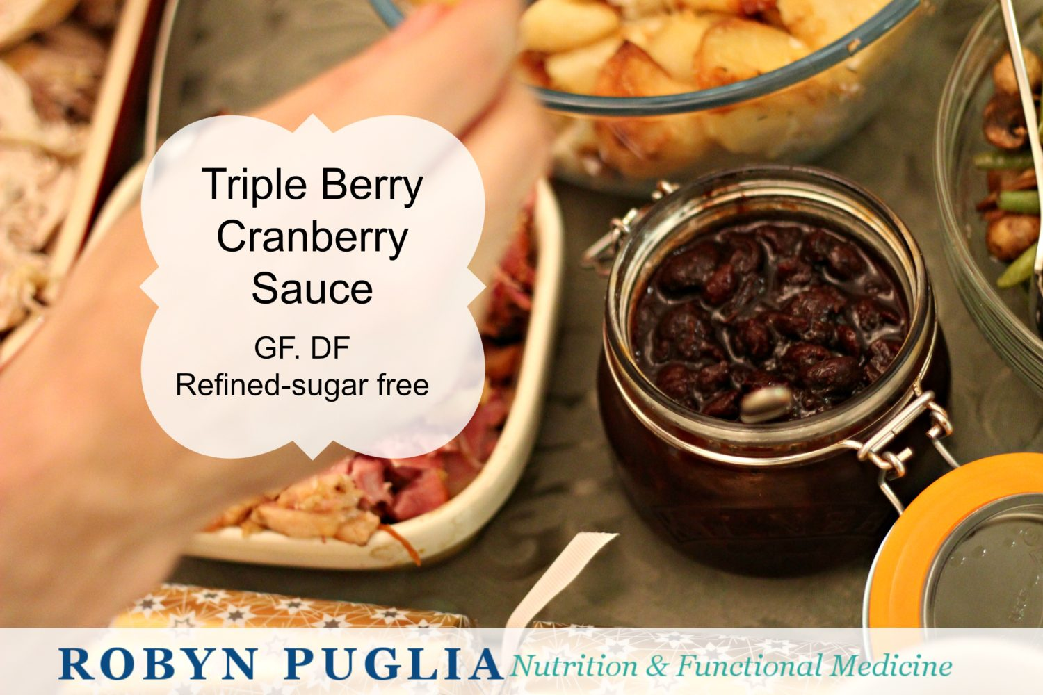 Triple Berry Healthy Cranberry Sauce