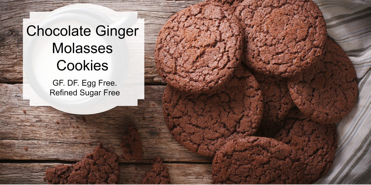 Chocolate-Ginger Molasses Cookies
