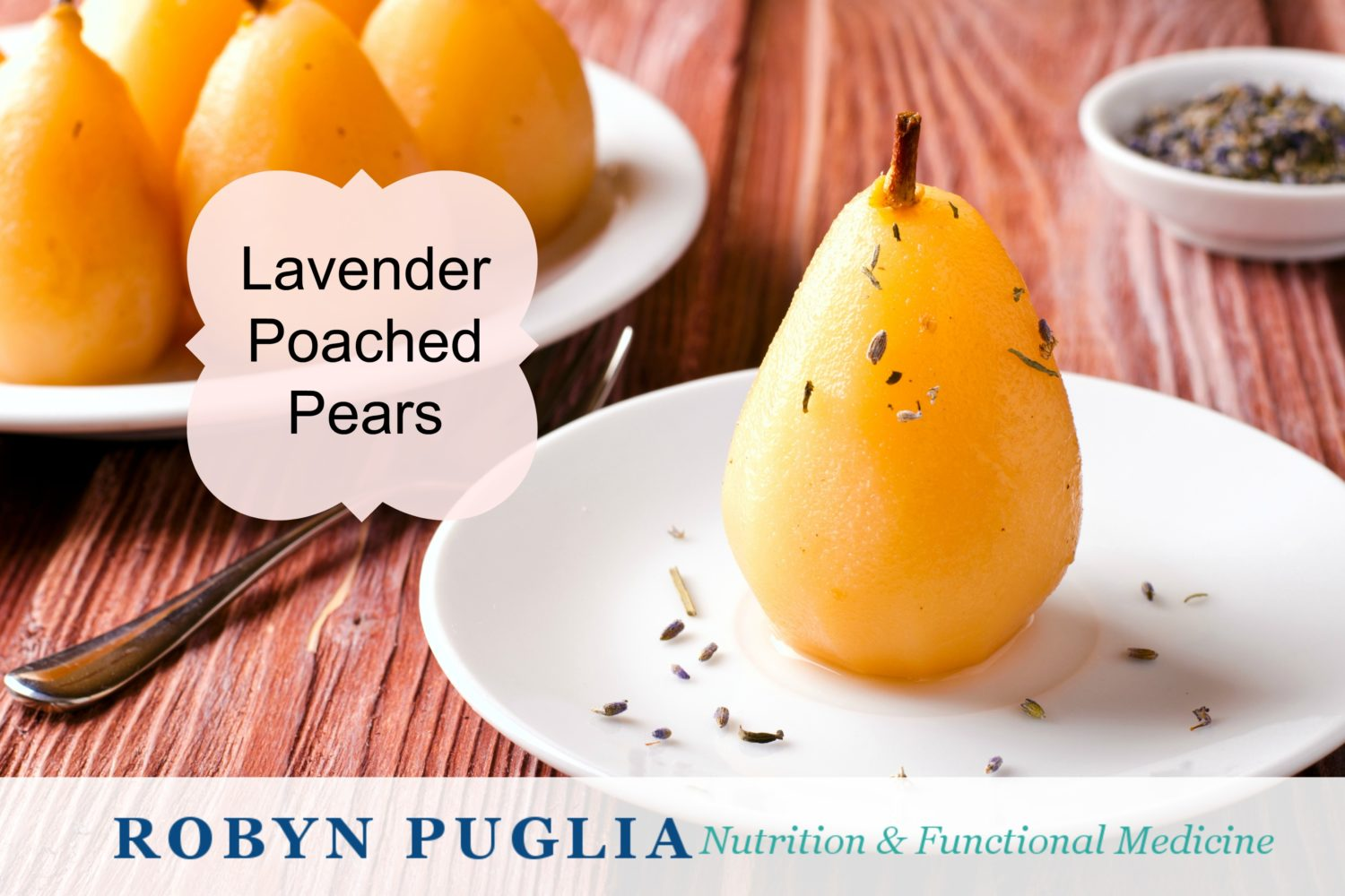 Lavender Poached Pears