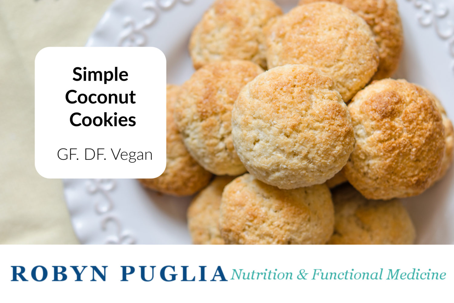 Simple Coconut Cookies.