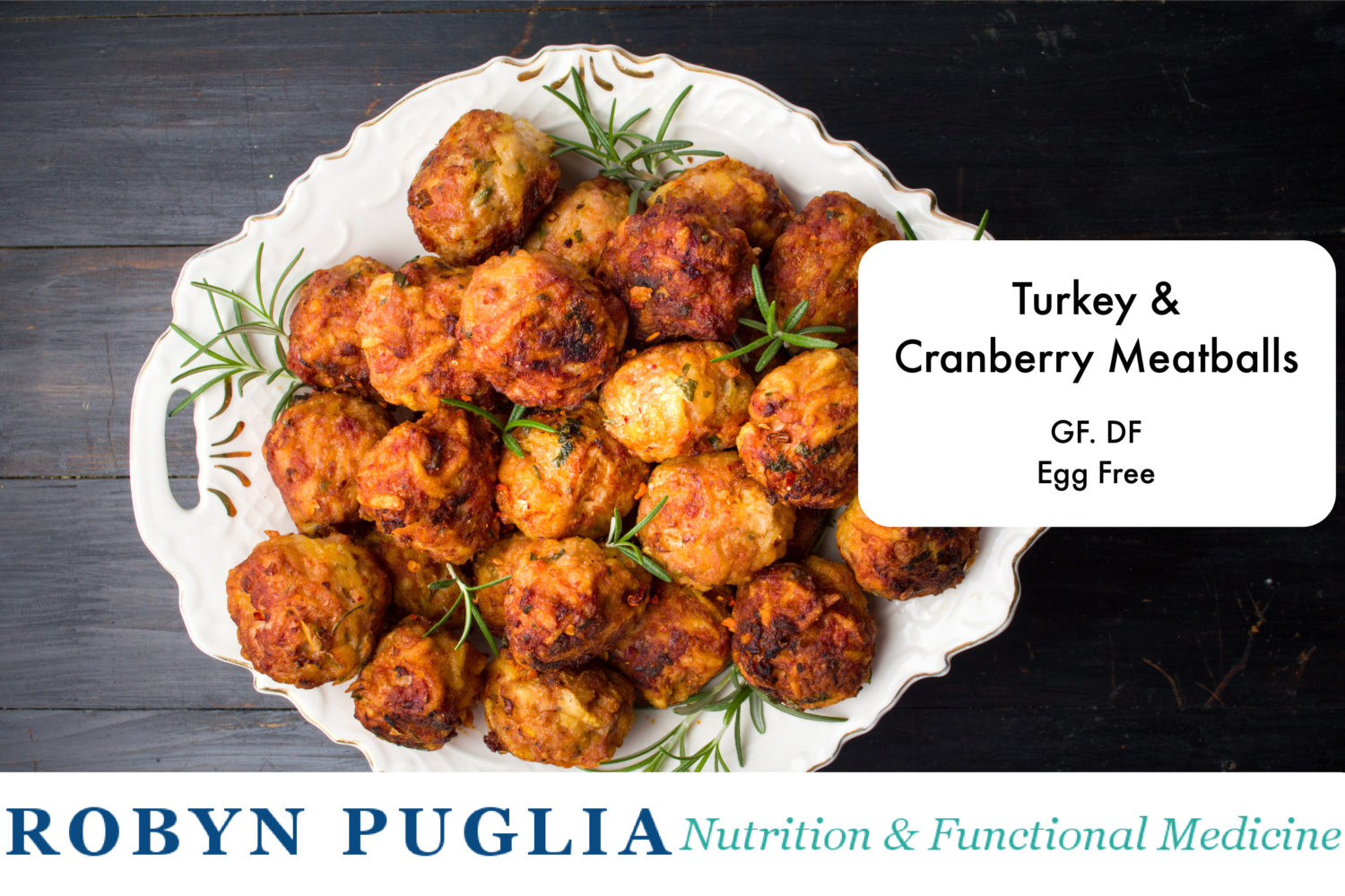 cranberry-turkey meatballs